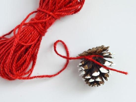 Fixation du cône à la corde