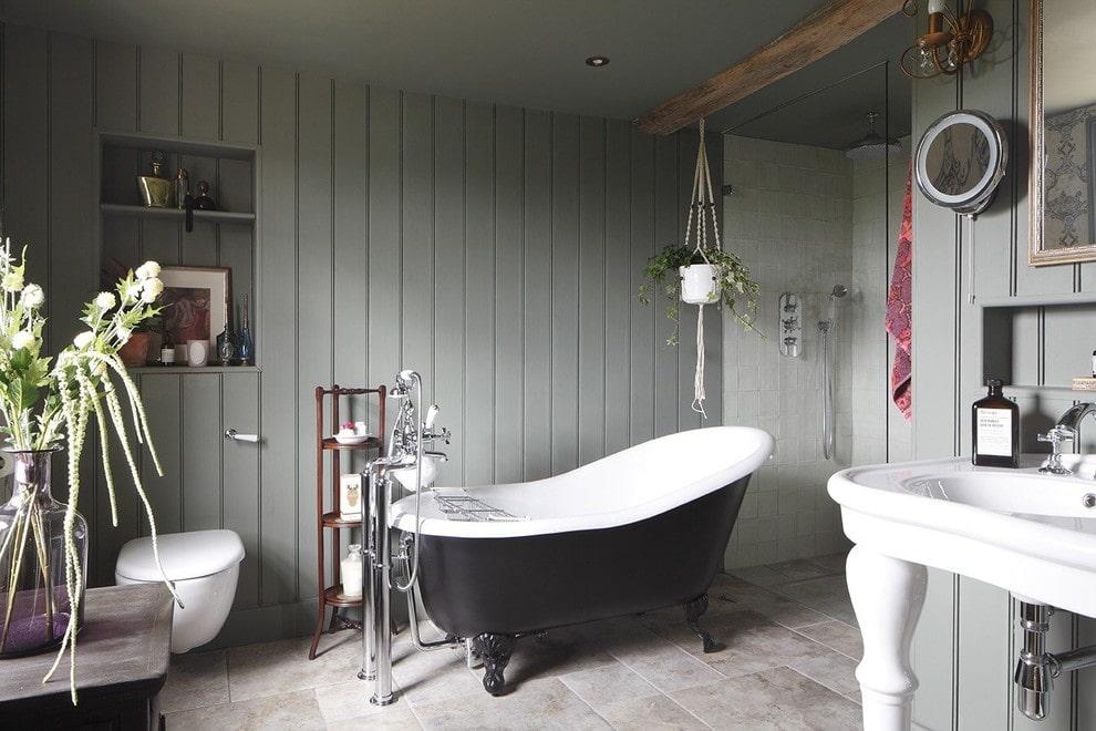 13 façons de décorer votre salle de bain au lieu de carreaux