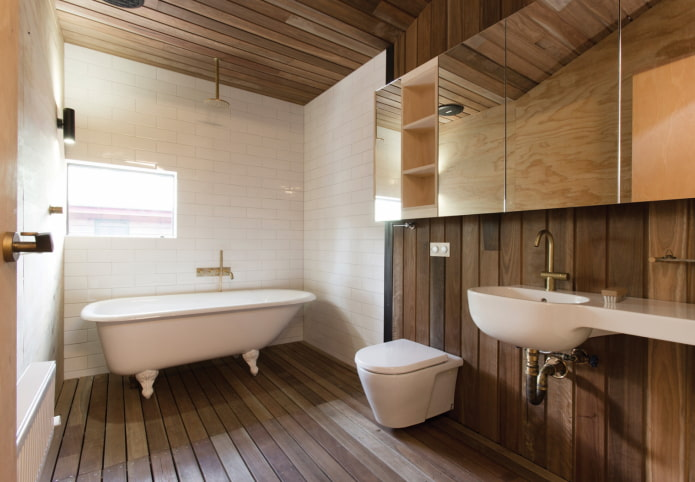 boiseries de salle de bain