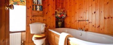 Вагонка в интерьере ванной комнаты