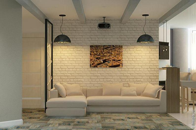 Salon design 2021 dans le style loft