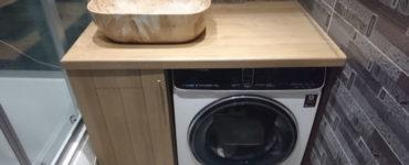 Как расположить стиральную машину в маленькой ванной?