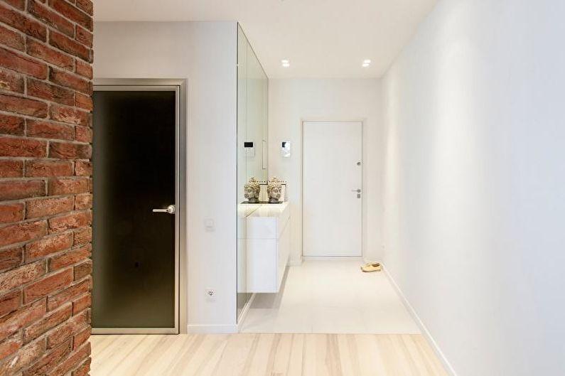 Couloir blanc - Design d'intérieur 2021