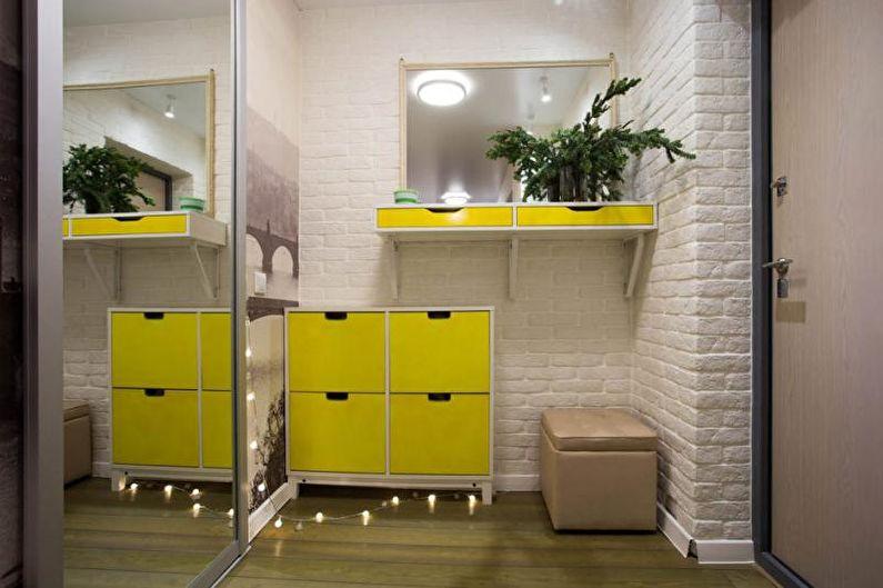 Couloir jaune - Design d'intérieur 2021