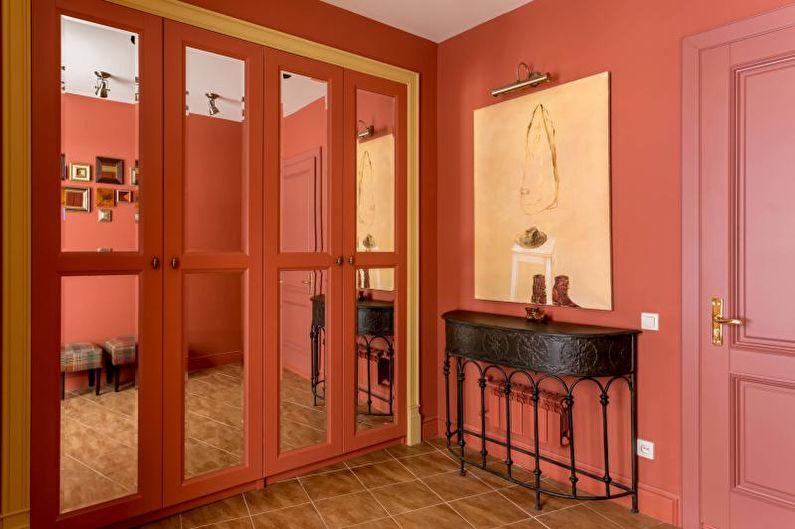 Couloir rouge - Design d'intérieur 2021