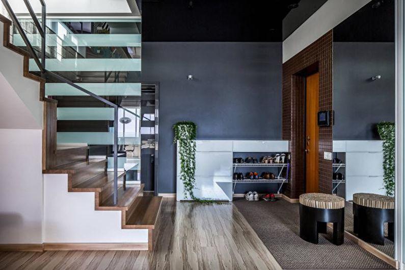 Couloir gris - Design d'intérieur 2021