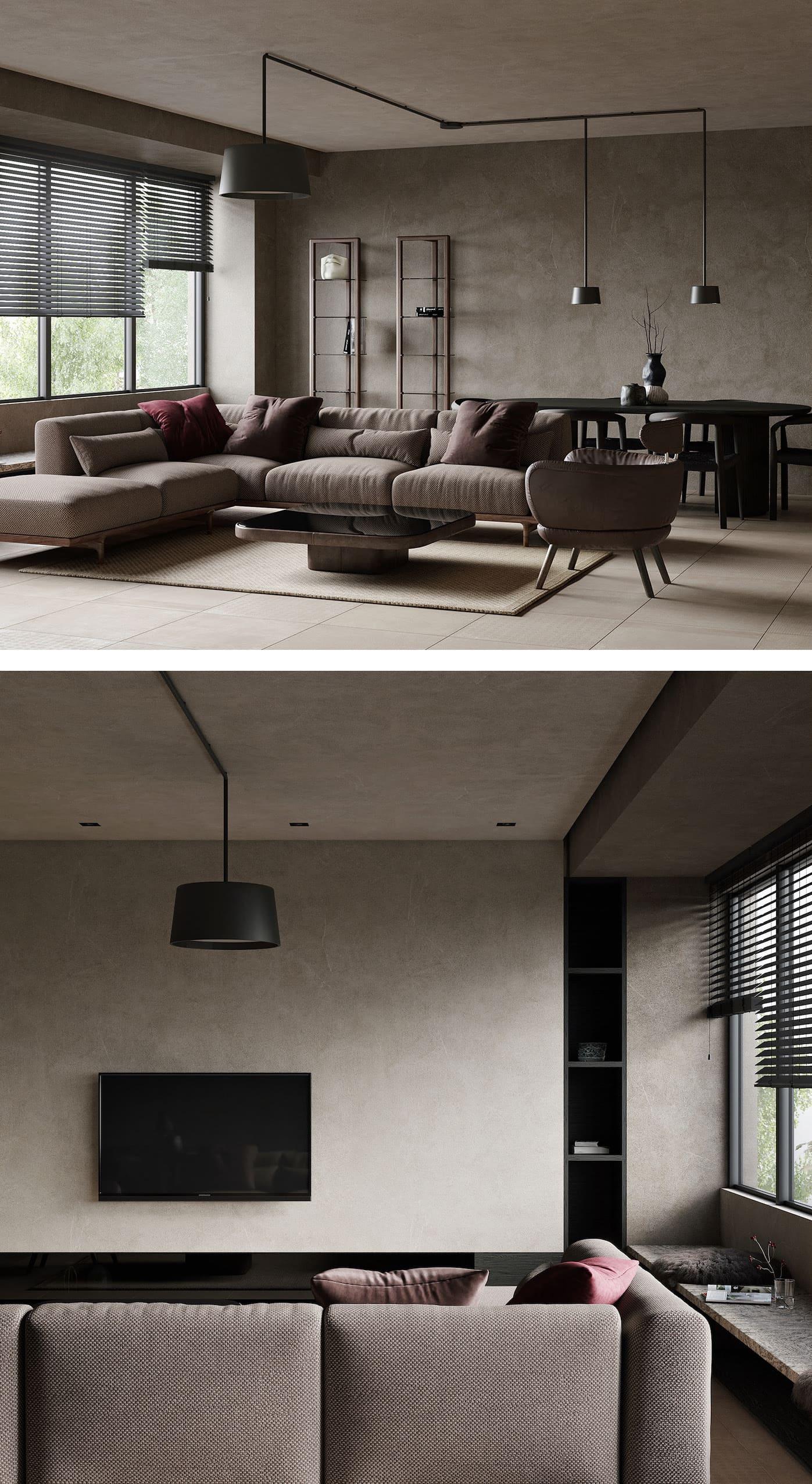 conception d'un appartement d'une pièce photo 4