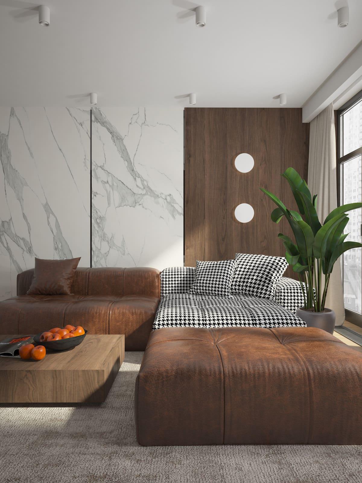 conception d'un appartement d'une pièce photo 6