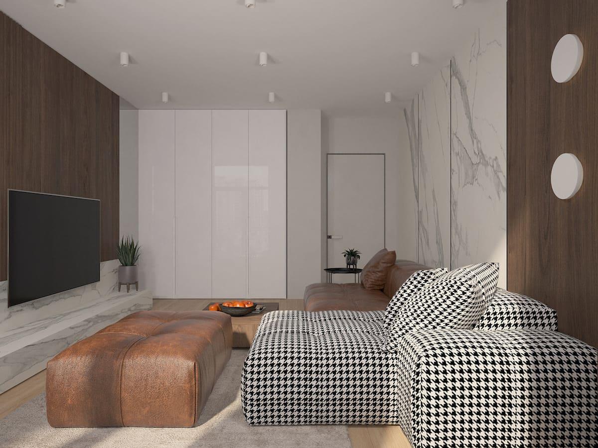 conception d'un appartement d'une pièce photo 8