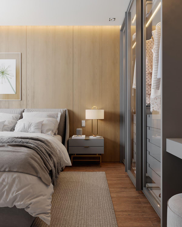 conception d'un appartement d'une pièce photo 21