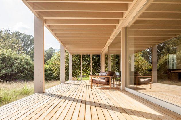 Maison au bord du lac de Bienne par Markus Schietsch Architekten en Suisse