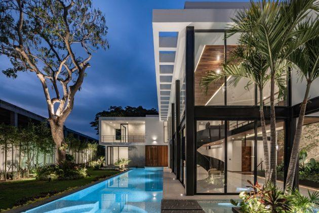 Water House par Di Frenna Arquitectos à Colima, Mexique