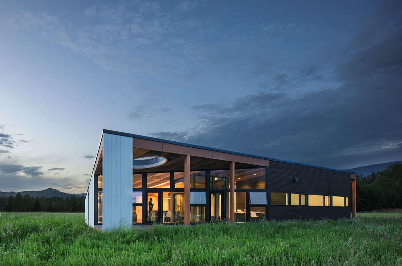 crépuscule-maison-moderne-extérieur