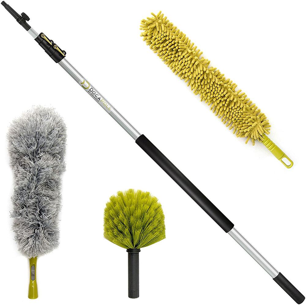 DocaPole-20-Foot-High-Reach-Dusting-Kit Les meilleurs outils de nettoyage de vitres à acheter pour un travail plus facile (réponse)