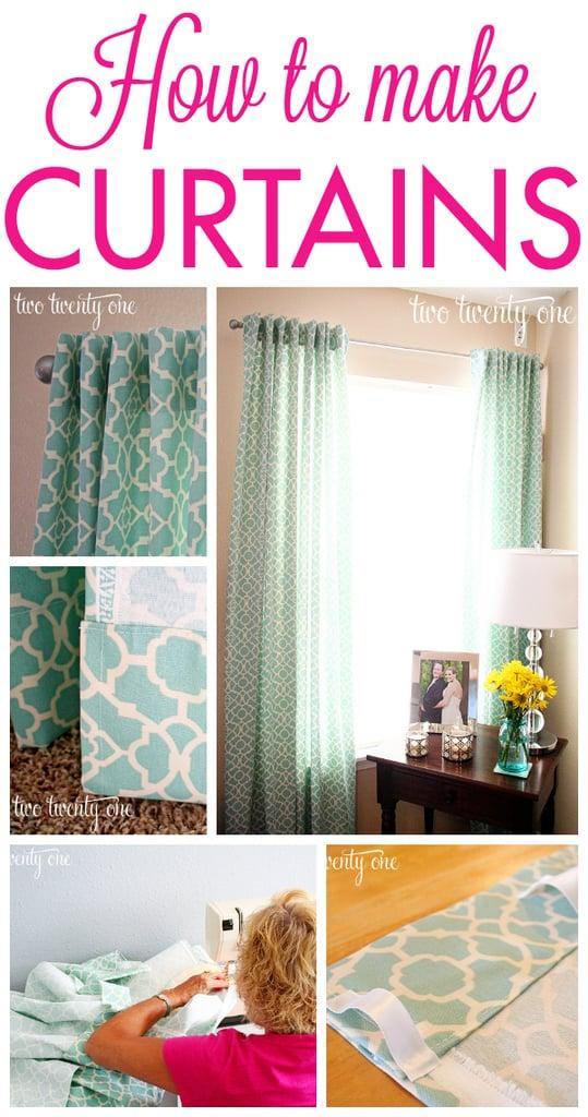 Comment faire des rideaux traditionnels Faites vos propres rideaux et couvre-fenêtres: 15 idées de rideaux à faire soi-même