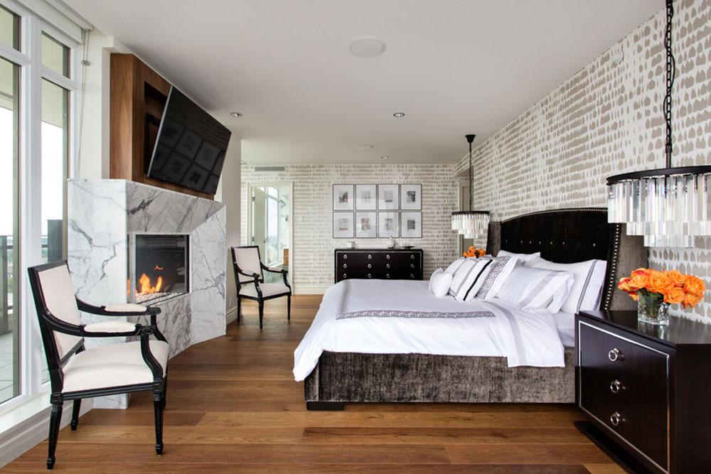 White-Rock-Penthouse-by-House-of-Bohn À quelle hauteur installer le téléviseur dans votre chambre?  (Répondu)