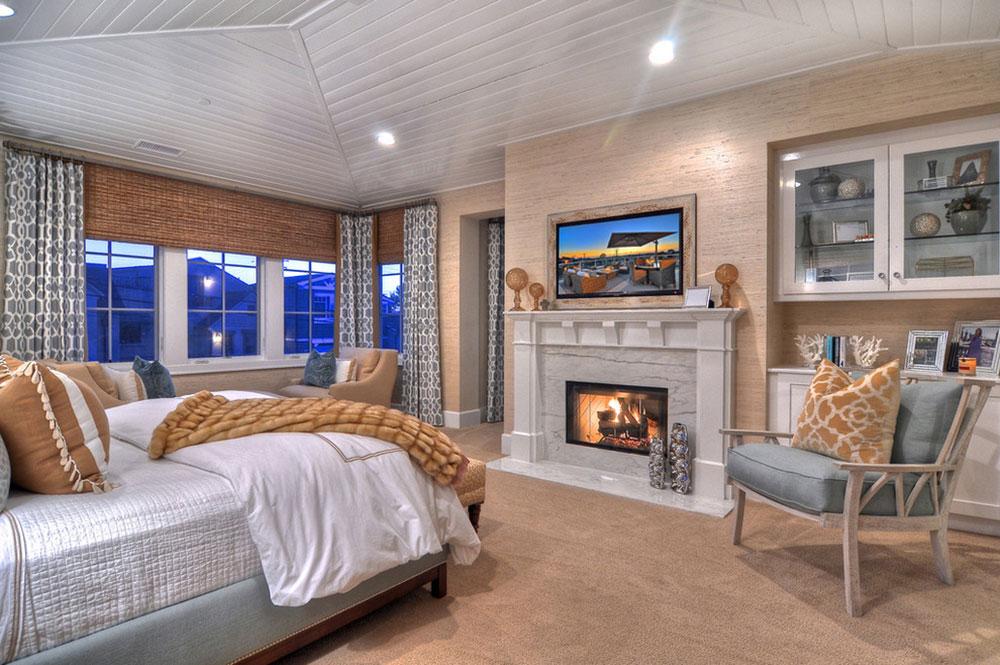 Newport-Beach-Master-Bedroom-by-Details-a-Design-Firm À quelle hauteur installer le téléviseur dans votre chambre?  (Répondu)