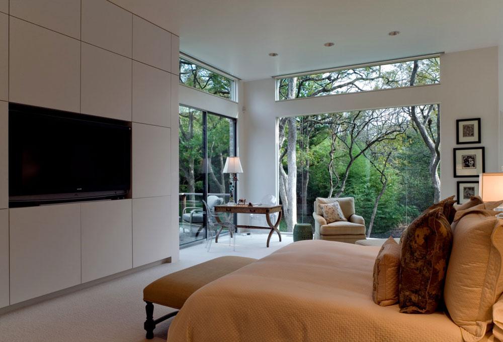 The-See-Through-House-by-Bernbaum-Magadini-Architects À quelle hauteur installer le téléviseur dans votre chambre?  (Répondu)