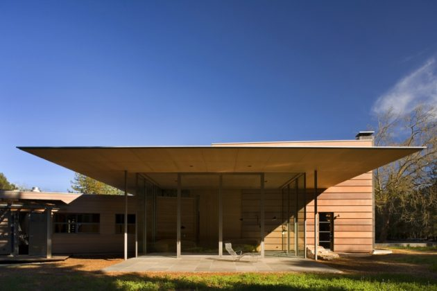 Résidence Creekside par Bohlin Cywinski Jackson à Woodside, Californie