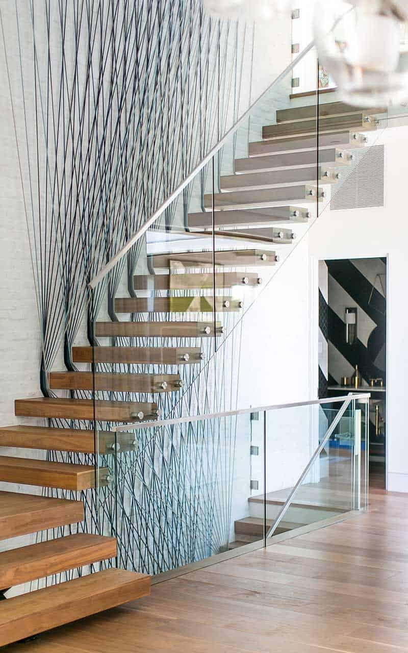 escalier moderne du milieu du siècle