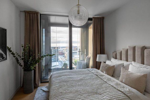 Fabuleux duplex de Stockholm avec vue panoramique sur l'hôtel de ville