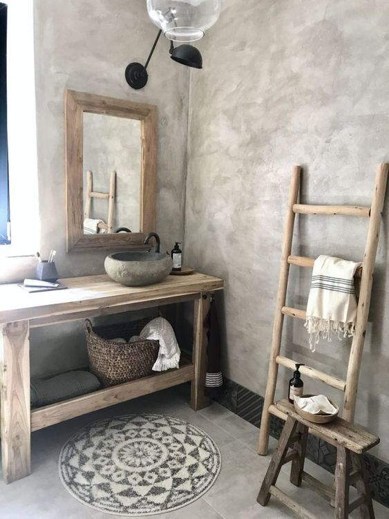 Salle de bain unique Wabi-Sabi