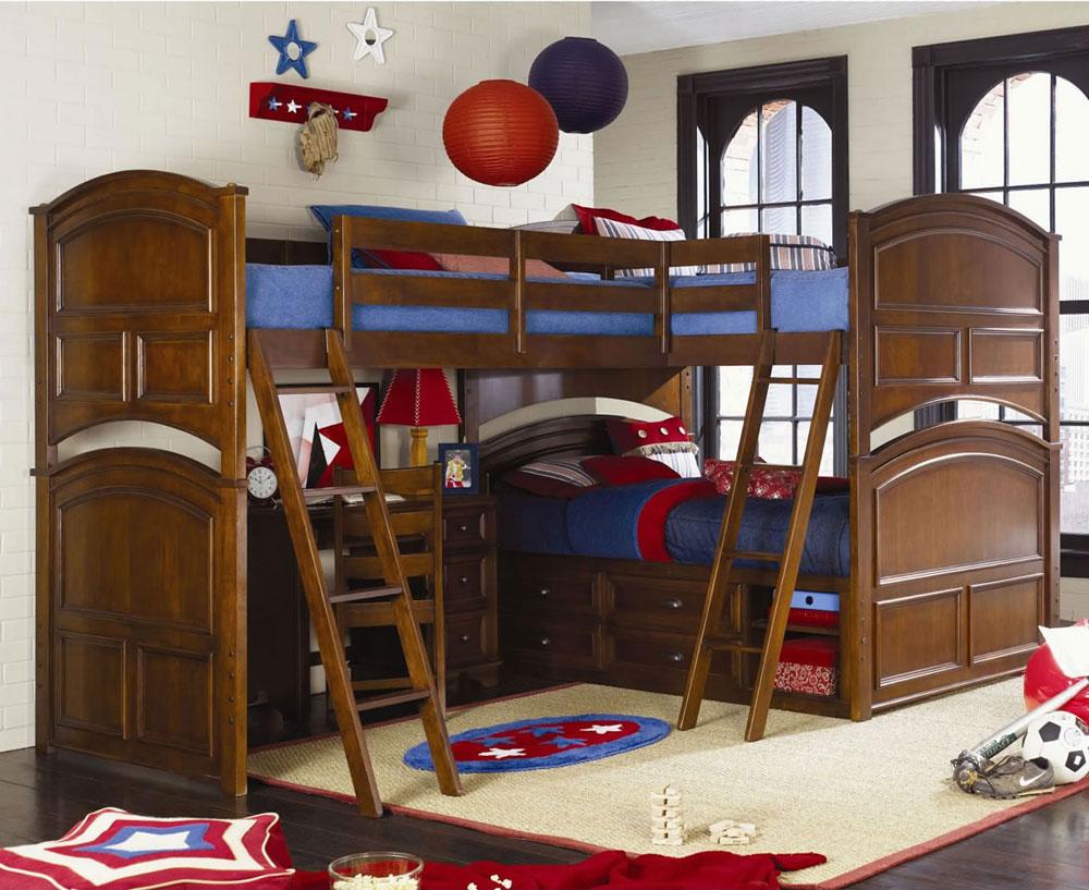 Bunk-Beds-Design-Ideas-8 Idées de lits superposés pour garçons et filles: 58 meilleures conceptions