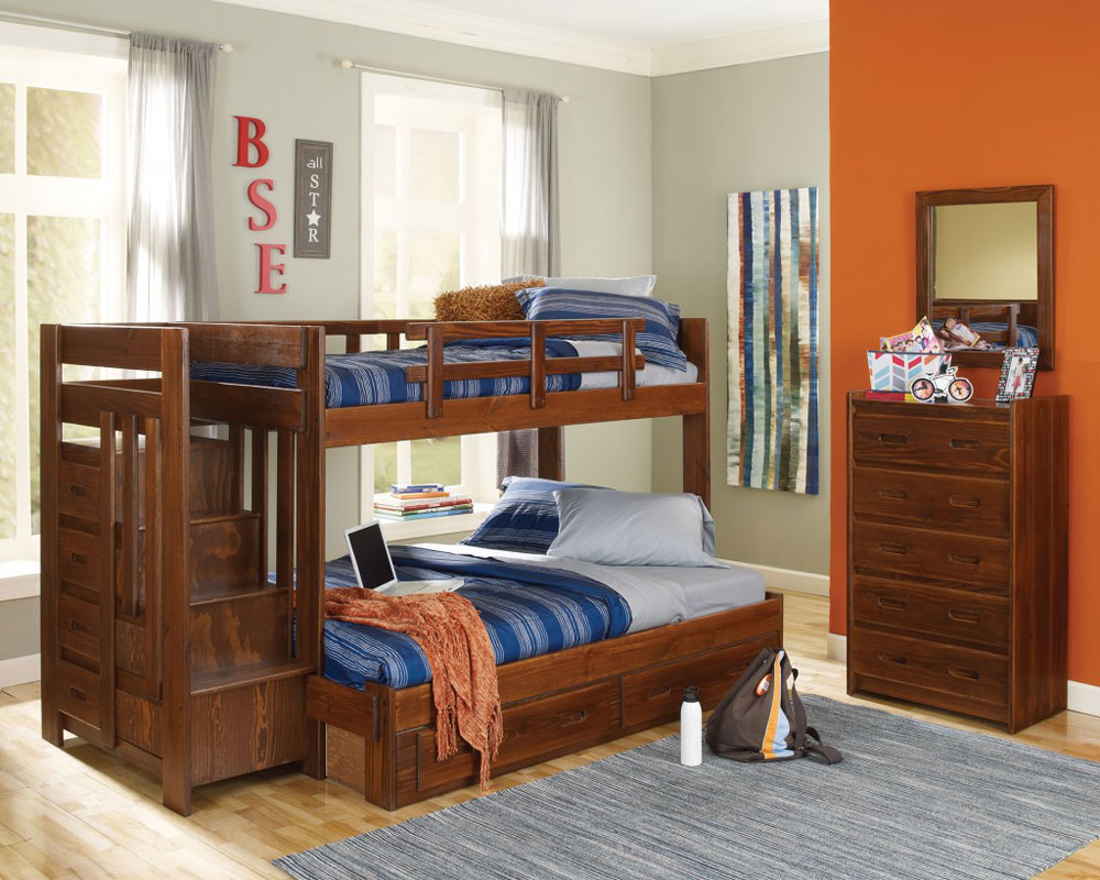 Bunk-Beds-Design-Ideas-14 Idées de lits superposés pour garçons et filles: 58 meilleures conceptions