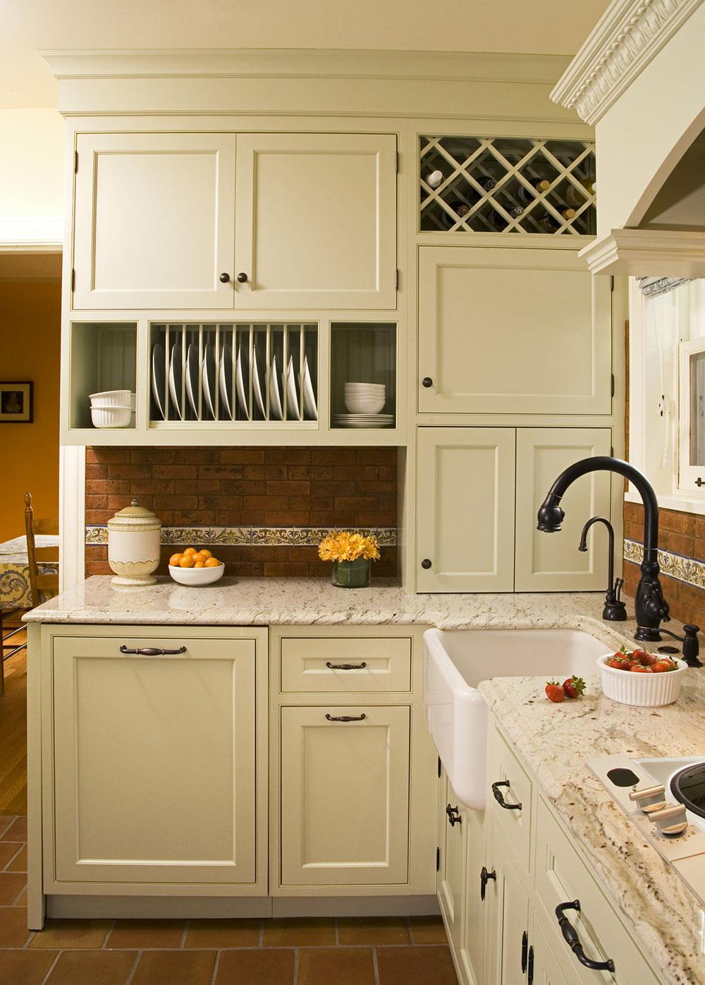 Sage-Green-Inset-Door-Kitchen-by-Kayron-Brewer-CMKBD-Studio-KB Comment mettre à jour les armoires de cuisine sans les remplacer