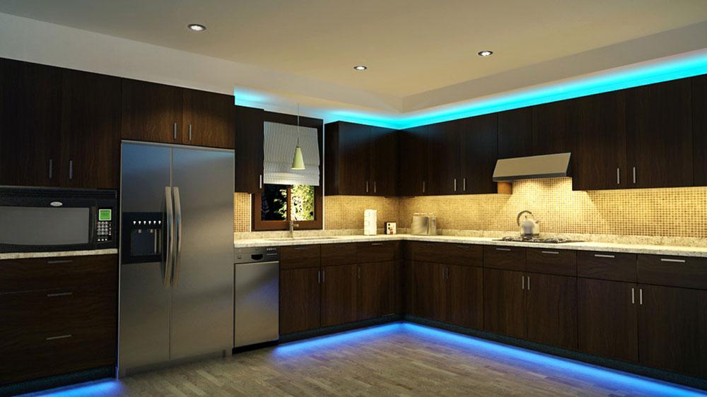 LED-Kitchen-Cabinet-and-Toe-Kick-Lighting-by-Super-Bright-LEDs Comment mettre à jour les armoires de cuisine sans les remplacer