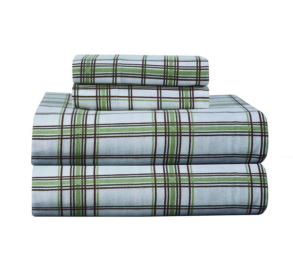 Ensemble de draps en flanelle à imprimé épais Pointehaven Les meilleurs draps en flanelle que vous pouvez obtenir pour votre chambre confortable