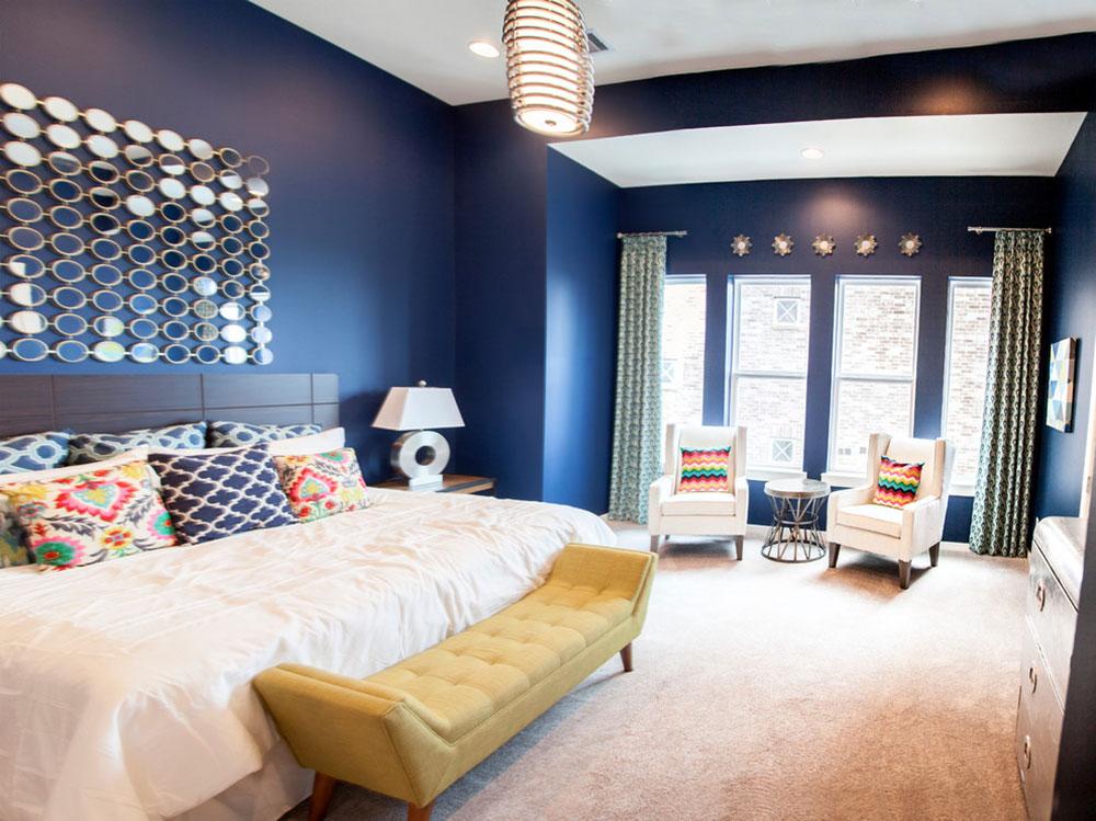 Navy-Master-Bedroom-Sawyer-Height-Houston-by-Heather-Alyce-Interior-Design-and-Home-Staging Idées de chambre beiges pour décorer votre chambre dans une couleur neutre