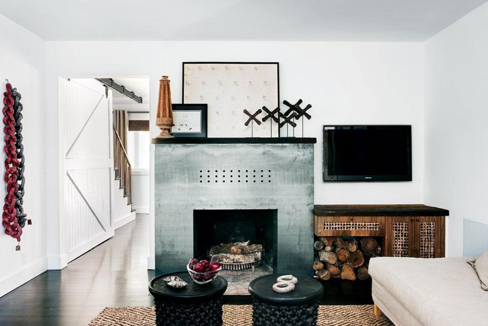 Steel-Modern-Fireplace-by-California-Home-and-Design Comment refaçonner une cheminée pour qu'elle soit incroyable