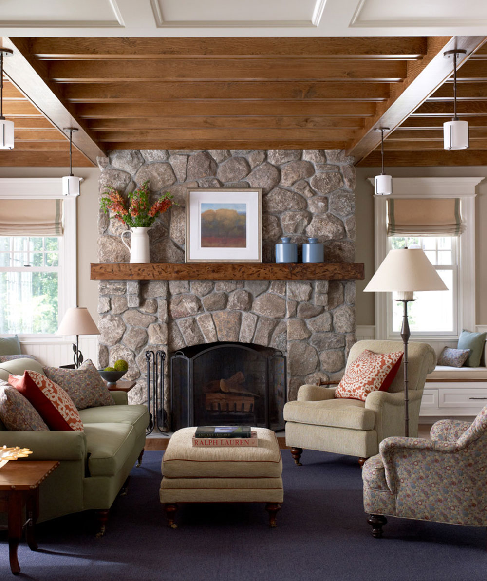 New-Canaan-Shingle-Style-by-Michael-Smith-Architects Comment refaçonner une cheminée pour qu'elle soit incroyable