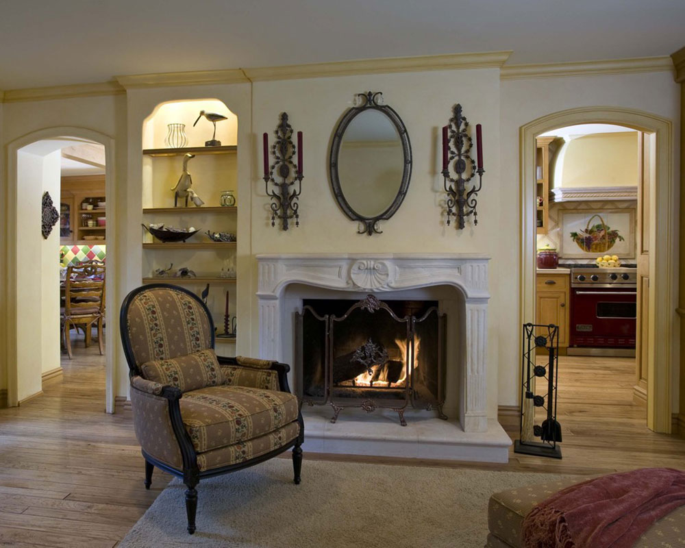 Country-French-Family-Room-by-Peg-Berens-Interior-Design-LLC Comment refaçonner une cheminée pour un look incroyable