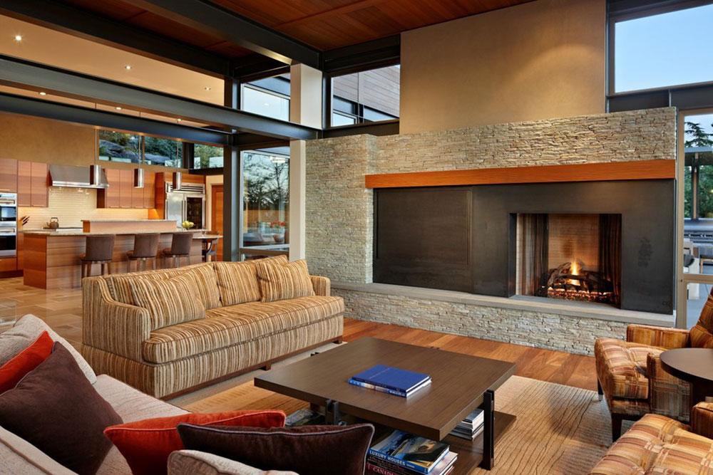 Lake-House-Two-Living-Room-by-McClellan-Architects Comment organiser les meubles dans un salon maladroit