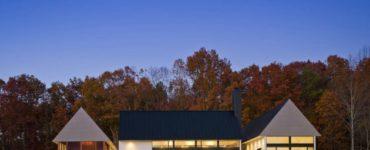 Becherer House par Robert M. Gurney Architect en Virginie, États-Unis