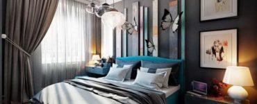 intérieur de la chambre avec des meubles