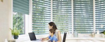 Comment choisir un traitement de fenêtre fonctionnel pour votre bureau à domicile