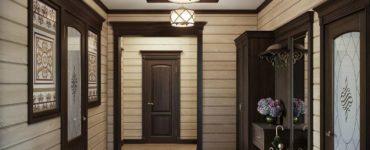 Conception de couloir en bois idees dameublement actuelles