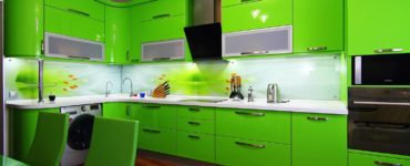 Conception de cuisine de couleur vert clair