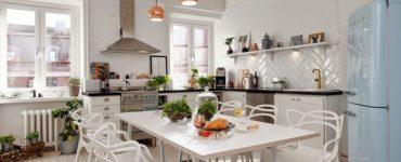 Decoration de cuisine de style scandinave