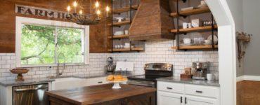 murs en bois dans la cuisine