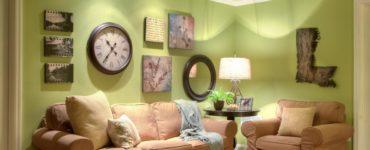 Olive a linterieur du salon exemples dutilisation de la couleur