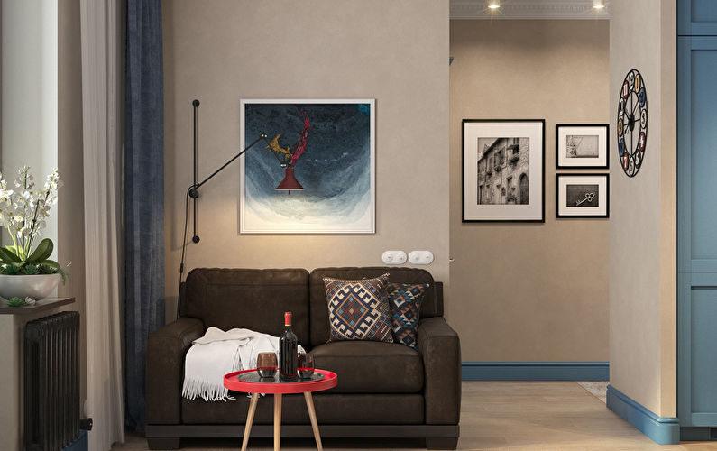 Дизайн-проект квартиры 38 км.м.