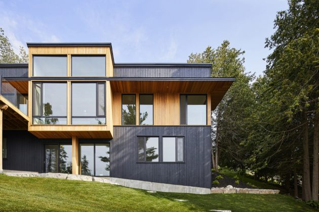 Sturgeon Lake House par Stephane LeBlanc Architects en Ontario, Canada