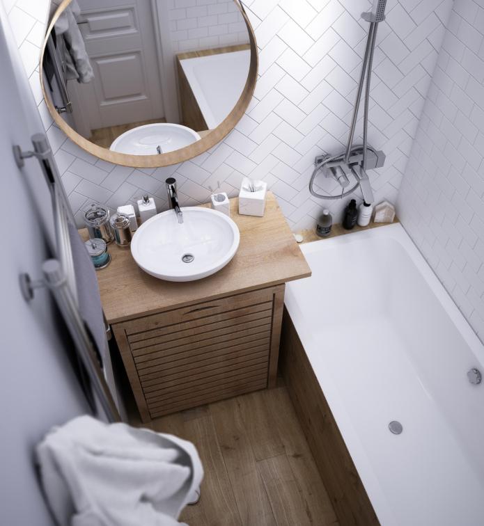 meubles dans une petite salle de bain