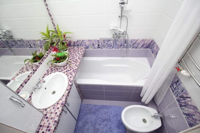 palette de couleurs de l'intérieur de la salle de bain