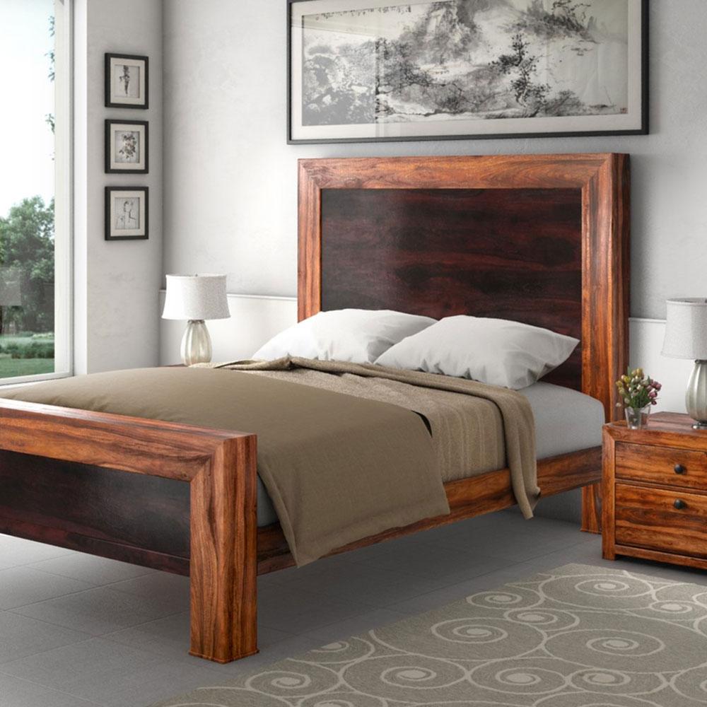 Texas-Solid-Wood-Paneled-Platform-Bed-Frame-w-Head-and-End-Table-by-Sierra-Living-Concepts Les lits de plate-forme sont-ils confortables?  Pourquoi devriez-vous en acheter un