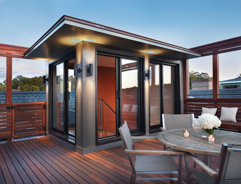 Rooftop-Mahogany-Deck-by-Flavin-Architects Idées d'éclairage de terrasse impressionnantes que vous pouvez utiliser chez vous